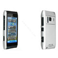 IMAK Titanium Color Covers Hard Cases for Nokia N8 - Silver