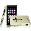 IMAK Titanium Color Covers Hard Cases for Nokia N9 - Gold