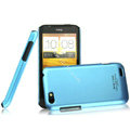 IMAK Ultrathin Matte Color Covers Hard Cases for HTC One V Primo T320e - Blue
