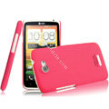 IMAK Ultrathin Matte Color Covers Hard Cases for HTC One X Superme Edge S720E G23 - Rose