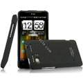 IMAK Ultrathin Matte Color Covers Hard Cases for HTC Raider 4G X710E G19 - Black