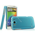 IMAK Ultrathin Matte Color Covers Hard Cases for HTC Sensation XL Runnymede X315e G21 - Blue