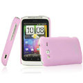 IMAK Ultrathin Matte Color Covers Hard Cases for HTC Wildfire S A510e G13 - Pink
