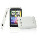 IMAK Ultrathin Matte Color Covers Hard Cases for HTC Wildfire S A510e G13 - White