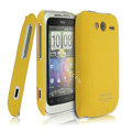 IMAK Ultrathin Matte Color Covers Hard Cases for HTC Wildfire S A510e G13 - Yellow