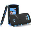 IMAK Ultrathin Matte Color Covers Hard Cases for Nokia Lumia 610 - Black