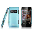 IMAK Ultrathin Matte Color Covers Hard Cases for Nokia X7 X7-00 - Blue