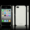 IMAK Ultrathin Matte Color Covers Hard Cases for iPhone 4G\4S - White