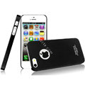IMAK Ultrathin Matte Color Covers Hard Cases for iPhone 5 - Black