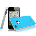 IMAK Ultrathin Double Color Covers Hard Cases for iPhone 4G\4S - Blue
