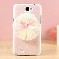 Ballet Hard Cases Covers Skin for Samsung N7100 GALAXY Note2 - Pink
