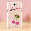 Cherry Hard Cases Covers Skin for Samsung N7100 GALAXY Note2 - Pink