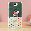 Color flower Hard Cases Covers Skin for Samsung N7100 GALAXY Note2 - Green