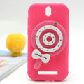 Cute Lollipop Silicone Cases Covers Skin for HTC T528t One ST - Rose