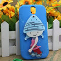 Pirate Girl Silicone Cases Skin Covers for HTC T528t One ST - Blue