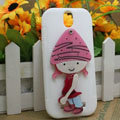 Pirate Girl Silicone Cases Skin Covers for HTC T528t One ST - White