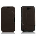 Side Flip leather Cases luxury Holster Skin for Samsung N7100 GALAXY Note2 - Brown
