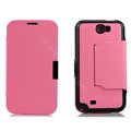 Side Flip leather Cases luxury Holster Skin for Samsung N7100 GALAXY Note2 - Pink