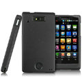 IMAK Armor Knight Full Cover Matte Color Shell Hard Cases for Motorola WX435 Triumph - Black