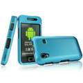 IMAK Armor Knight Full Cover Matte Color Shell Hard Cases for Samsung Galaxy Ace S5830 i579 - Blue