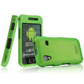 IMAK Armor Knight Full Cover Matte Color Shell Hard Cases for Samsung Galaxy Ace S5830 i579 - Green