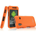 IMAK Armor Knight Full Cover Matte Color Shell Hard Cases for Samsung Galaxy Ace S5830 i579 - Orange