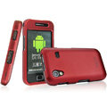 IMAK Armor Knight Full Cover Matte Color Shell Hard Cases for Samsung Galaxy Ace S5830 i579 - Red