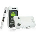 IMAK Armor Knight Full Cover Matte Color Shell Hard Cases for Samsung Galaxy Ace S5830 i579 - White