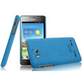 IMAK Cowboy Shell Quicksand Hard Cases Covers for Huawei U8950D C8950D G600 - Blue