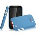 IMAK Cowboy Shell Quicksand Hard Cases Covers for Motorola XT550 - Blue