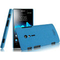 IMAK Cowboy Shell Quicksand Hard Cases Covers for Sony Ericsson LT28i Xperia ion - Blue