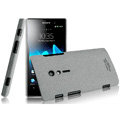 IMAK Cowboy Shell Quicksand Hard Cases Covers for Sony Ericsson LT28i Xperia ion - Gray