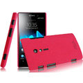 IMAK Cowboy Shell Quicksand Hard Cases Covers for Sony Ericsson LT28i Xperia ion - Rose