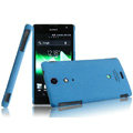 IMAK Cowboy Shell Quicksand Hard Cases Covers for Sony Ericsson LT29i Xperia Hayabusa Xperia GX/TX - Blue