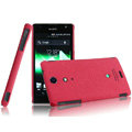 IMAK Cowboy Shell Quicksand Hard Cases Covers for Sony Ericsson LT29i Xperia Hayabusa Xperia GX/TX - Rose