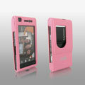 IMAK Full Cover Ultrathin Matte Color Shell Hard Cases for Sony Ericsson Satio U1 Idou - Pink