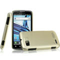 IMAK Titanium Color Covers Hard Cases for Motorola ME865 - Gold