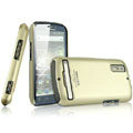 IMAK Titanium Color Covers Hard Cases for Motorola Photon 4G MB855 - Gold