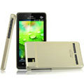 IMAK Titanium Color Covers Hard Cases for Motorola XT928 - Gold