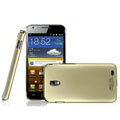 IMAK Titanium Color Covers Hard Cases for Samsung E120L GALAXY S2 SII HD LTE - Gold