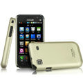 IMAK Titanium Color Covers Hard Cases for Samsung i9008L - Gold