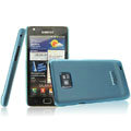 IMAK Ultrathin Colorful Ice Shell Hard Cases for Samsung i9100 i9108 i9188 Galasy S2 - Blue