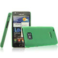 IMAK Ultrathin Colorful Ice Shell Hard Cases for Samsung i9100 i9108 i9188 Galasy S2 - Green