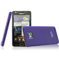 IMAK Ultrathin Colorful Ice Shell Hard Cases for Samsung i9100 i9108 i9188 Galasy S2 - Purple