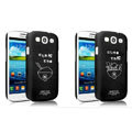IMAK Ultrathin Lovers shell Hard Cases for Samsung Galaxy SIII S3 I9300 I9308 I939 I535 - Black