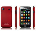 IMAK Ultrathin Matte Color Covers Hard Back Cases for Samsung i9000 Galaxy S i9001 - Red