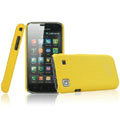 IMAK Ultrathin Matte Color Covers Hard Back Cases for Samsung i9000 Galaxy S i9001 - Yellow