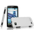IMAK Ultrathin Matte Color Covers Hard Cases for Motorola ME865 - White