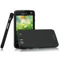 IMAK Ultrathin Matte Color Covers Hard Cases for Motorola MT917 - Black