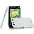 IMAK Ultrathin Matte Color Covers Hard Cases for Motorola MT917 - White